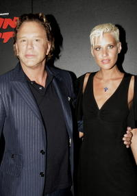 Mickey Rourke and his guest Eve at the aftershow party following the UK premiere of