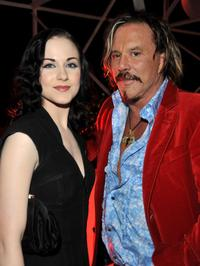 Evan Rachel Wood and Mickey Rourke at the after party of