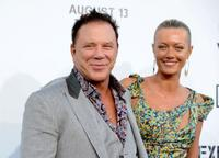 Mickey Rourke and Anastassija Makarenko at the California premiere of