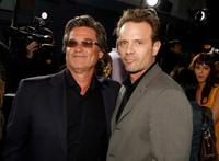 Kurt Russell and Michael Biehn at the premiere of
