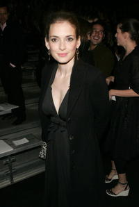 Winona Ryder at the Marc Jacobs Fall 2006 fashion show during Olympus Fashion Week in N.Y.
