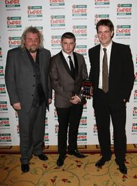 Gary Young, Ben Drew and Kris Thykier at the Jameson Empire Film Awards.