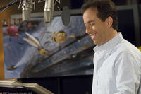 Jerry Seinfeld on the set of