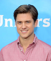 Aaron Tveit at the day 2 of the 2013 Winter TCA Tour in California.