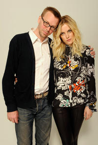 Filmmaker Bradley Rust Gray and Riley Keough at the Cadillac Tribeca Press Lounge during the Tribeca Film Festival 2012 in New York.