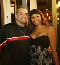 Sinbad and his daughter Paige Bryan at the premiere of