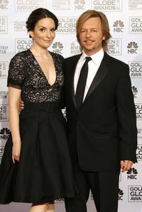 David Spade and Tina Fey at the 64th Annual Golden Globe Awards.