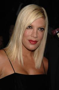 Tori Spelling at the Betsey Johnson 2008 Fashion Show during the Mercedes-Benz Fashion Week Spring 2008.