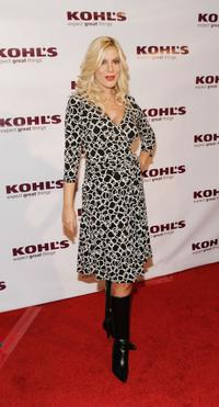 Tori Spelling at the Kohl's Transformation Nation Fall Fashion Show.