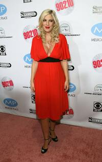 Tori Spelling at the Beverly Hills 90210: The Complete First Season DVD Party.