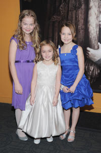 Megan Charpentier, Morgan McGarry and Isabelle Nelisse at the New York premiere of