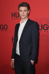 Max Irons at the Hugo Show during the Mercedes-Benz Fashion Week Berlin Spring/Summer 2012.