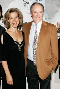 Juliet Stevenson and Jim Broadbent at the private screening of