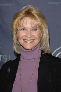 Dee Wallace at the HRTS Newsmaker Luncheon presenting