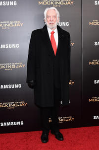 Donald Sutherland at the New York premiere of