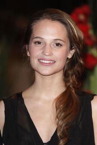 Alicia Vikander at the premiere of