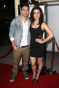 Ryan Guzman and Kathryn McCormick at the California premiere of