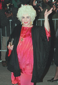 Elizabeth Taylor at the reception to benefit the American Foundation for Aids Research.