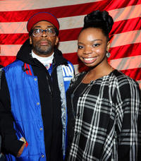 Director Spike Lee and Toni Lysaith at the portrait session of