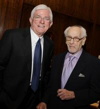 Eli Wallach and Phil Donahue at a luncheon celebrating Moores documentary
