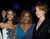 Zoe Saldana, CCH Pounder and Sigourney Weaver at the after party of the California premiere of
