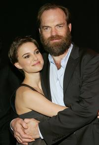 Hugo Weaving and Natalie Portman at the premiere of