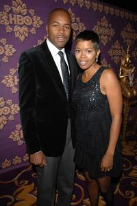 D-Nice and Malinda Williams at the HBO Emmy after party.
