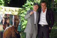Bruce Willis and Edoardo Costa at Rome photocall of