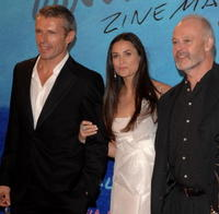 Lambert Wilson, Demi Moore and Michael Radford at the closing ceremony of 55th San Sebastian International Film Festival.