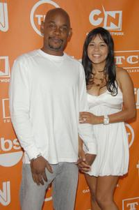 Bokeem Woodbine and Guest at the 2008 Summer TCA Tour Turner party.