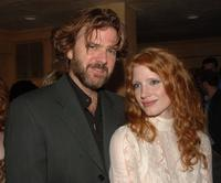 Kevin Anderson and Jessica Chastain at the after party for Al Pacino stars in Oscar Wildes