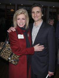 Lawrence Bender and Donna Mills at the Gary Hart's lecture and book signing for