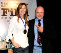 Kathryn Bigelow and Andrew Davis at the 25th Annual Santa Barbara Film Festival.