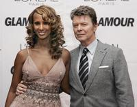 David Bowie and his wife Iman at the 17th Annual Glamour Women of the Year awards.