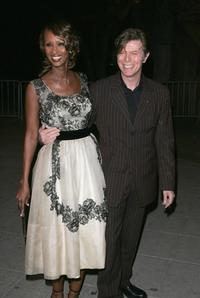 David Bowie and Iman at the Vanity Fair party for the Tribeca Film Festival.
