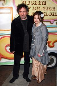 Tim Burton and Helena Bonham Carter at the Folklore Fete party.