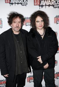 Tim Burton and Robert Smith at the Shockwaves NME Awards 2009.