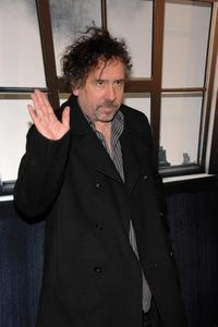 Tim Burton at the premiere of