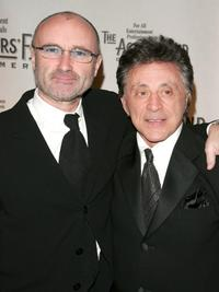 Phil Collins and Frankie Valli at the Actors Fund of America annual gala.
