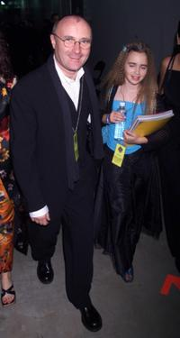 Phil Collins and his daughter at the 42nd Annual Grammy Awards.