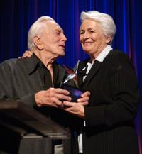 Kirk Douglas and Jean Picker Firstenberg at AFI's 40th Anniversary Celebration Lunch.