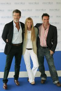 Pierce Brosnan, Beau st.Clair and Richard Shepard t the 31st Deauville Festival Of American Film photocall of The Matador.