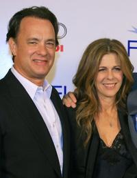 Tom Hanks and Rita Wilson at the premiere of