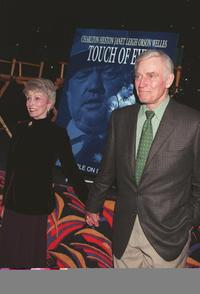 Charlton Hestonand and Janet Leigh at the screening of the restored version of Orson Welles classic film,