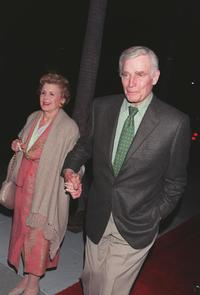 Charlton Hestonand and his wife Lydia at the screening of the restored version of Orson Welles classic film,