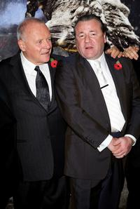 Anthony Hopkins and Ray Winstone at the London premiere of