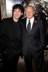 Anthony Hopkins and Neil Gaiman at the London premiere of
