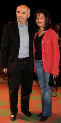 Gerard Jugnot and his girlfriend at the closing ceremony Gala at Palais des Congres during the Marrakesh International Film Festival.
