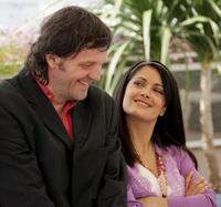 Emir Kusturica and Salma Hayek at the Jury Photocall at the 58th International Cannes Film Festival.