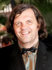 Emir Kusturica at the premiere for the film